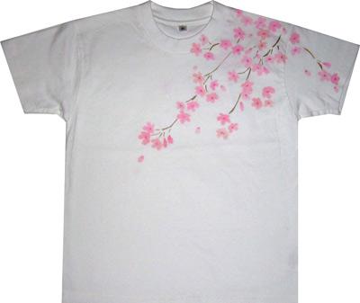 しだれ桜Tシャツ<前>