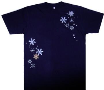 雪の結晶Tシャツ